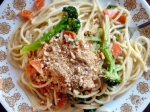 Carrot and Broccoli Alfredo Spaghetti